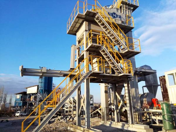 YLB500 pabrik aspal bergerak kecil