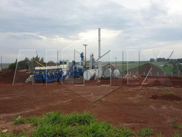60t mobile asphalt batch mixing plant