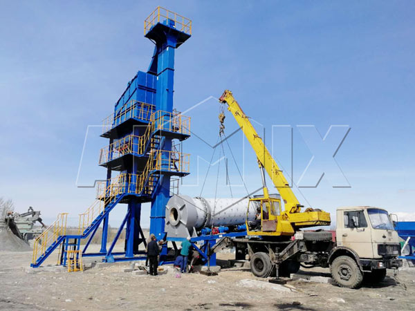90t/h asphalt batch mix plant