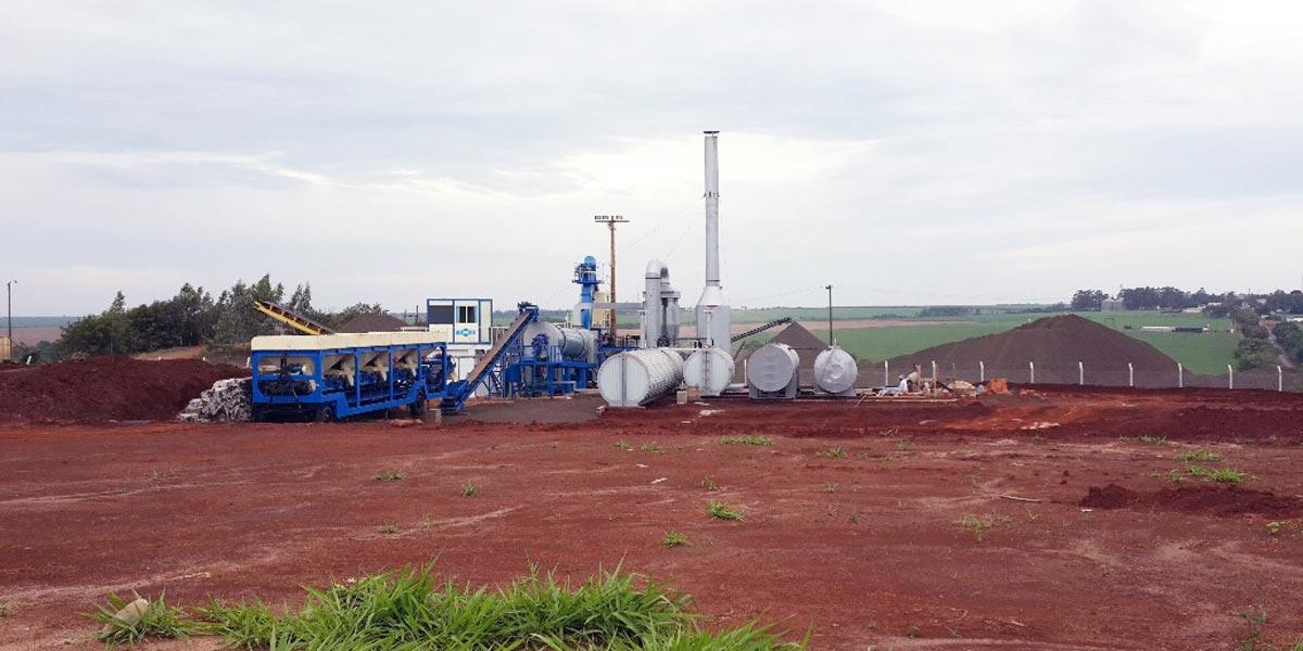 Nhà máy trộn trống ở Uruguay