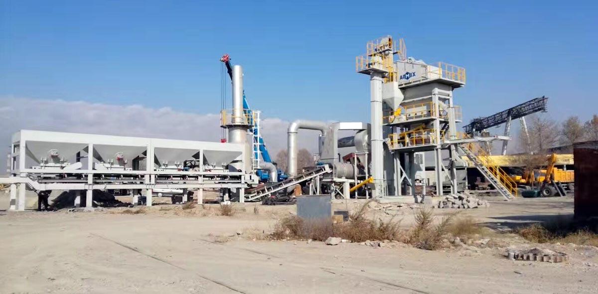 Cài đặt Aimix Mobile Asphalt mixing Plant Ở Kazakhstan