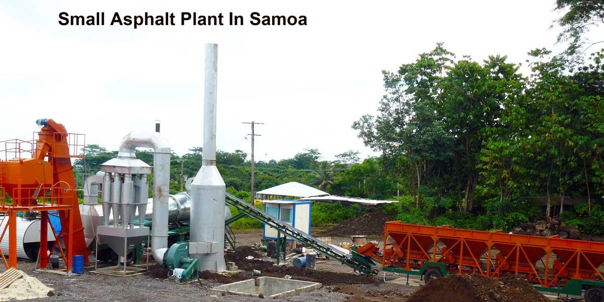 Nhà máy nhựa đường nhỏ ở Samoa