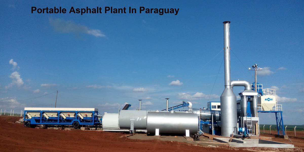 Nhà máy trộn nhựa đường di động nhỏ ở Paraguay