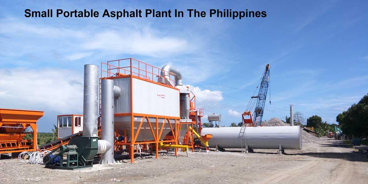 Nhà máy nhựa đường nhỏ di động ở Philippines