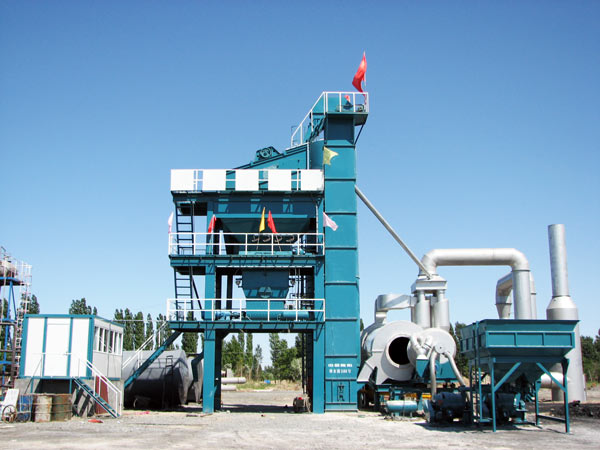 LB1200 stationary asphalt batching plant