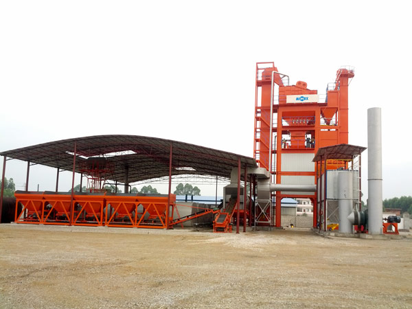LB2500 stationary asphalt mix plant