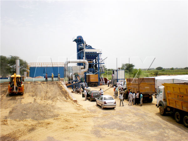 QLB-130 stationary asphalt batching plant for sale