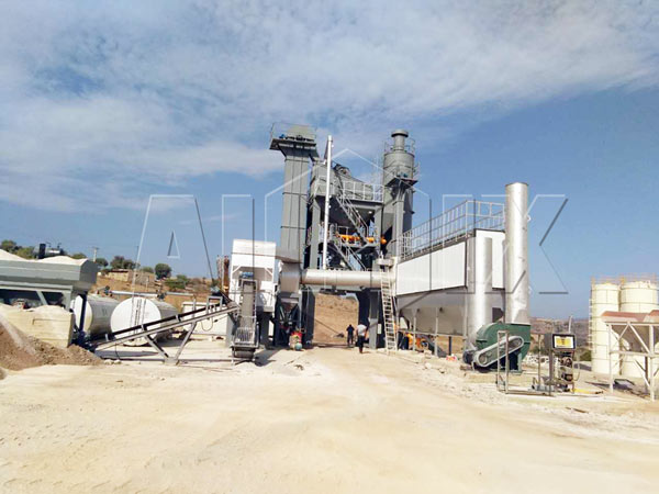 QLB-320 stationary asphalt batch mixing plant for sale
