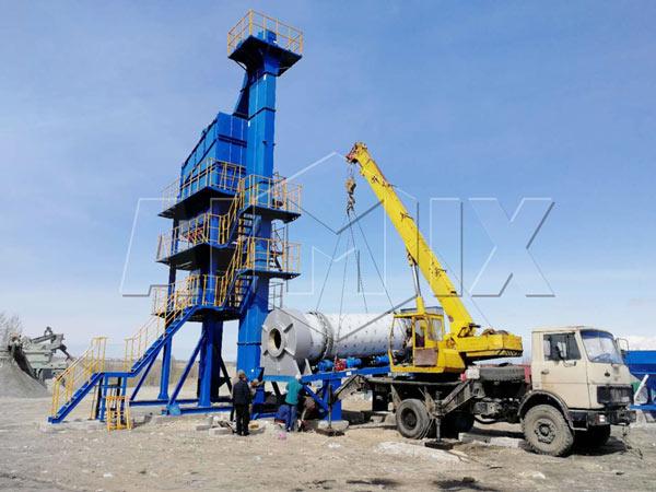 90t/h asphalt batch plant
