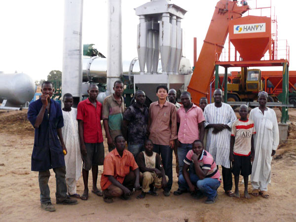 Small Asphalt Plant in Nigeria