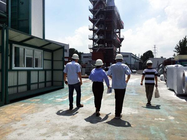visiting asphalt plant factory