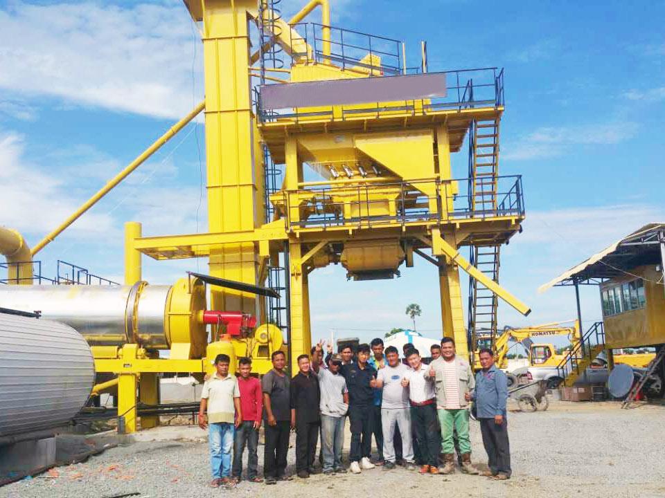 YLB series mobile asphalt plant