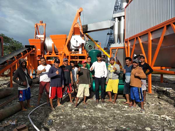 installing asphalt plant in the Philippines