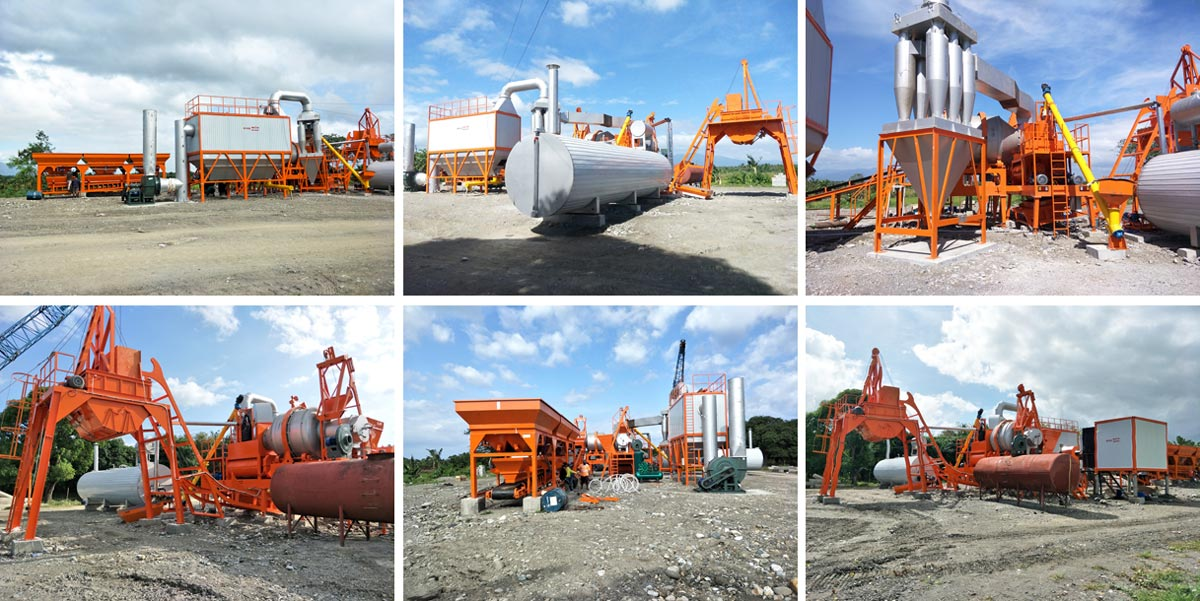 Aimix Sample Format of 60 tph Asphalt Batching Plant in Philippines