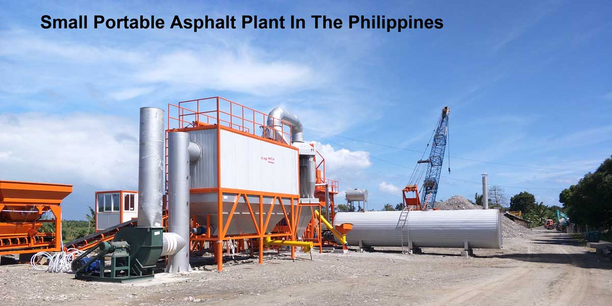 Small Portable Asphalt Mixing Plant in The Philippines