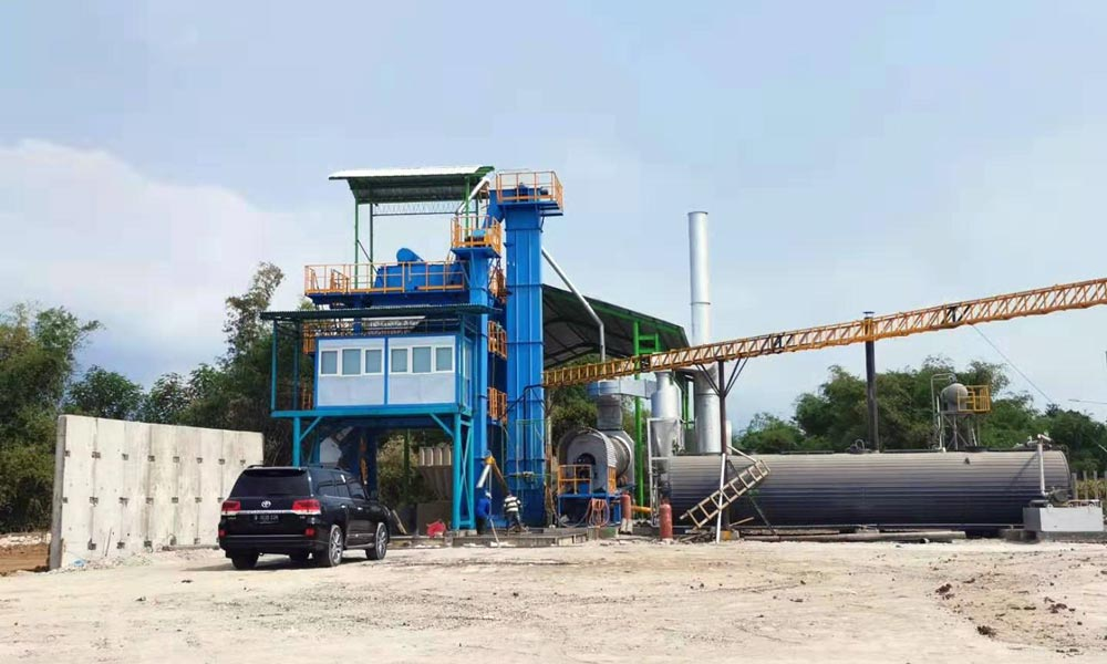 Aimix Asphalt Mixing Plant in Indonesia