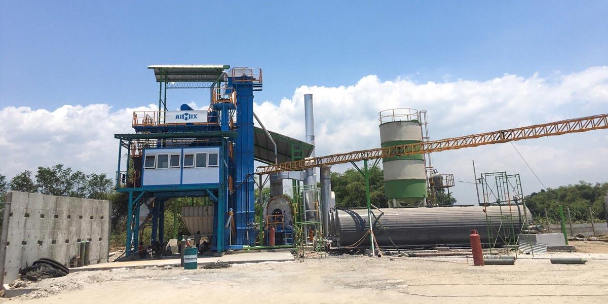 Installing ALQ100 Asphalt Plant in Indonesia