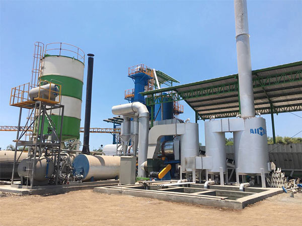 ALQ120 Asphalt Mix Plant on site