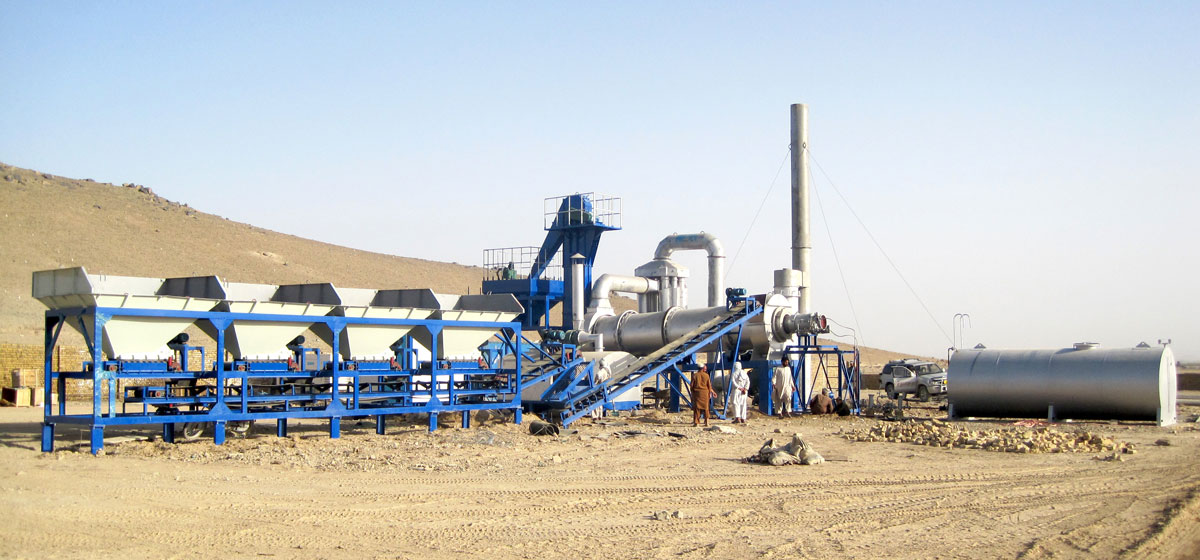 Drum Mix Aspahlt Plant in Afghanistan