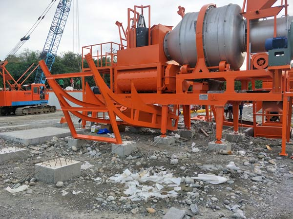 dryer drum and twin shaft mixer