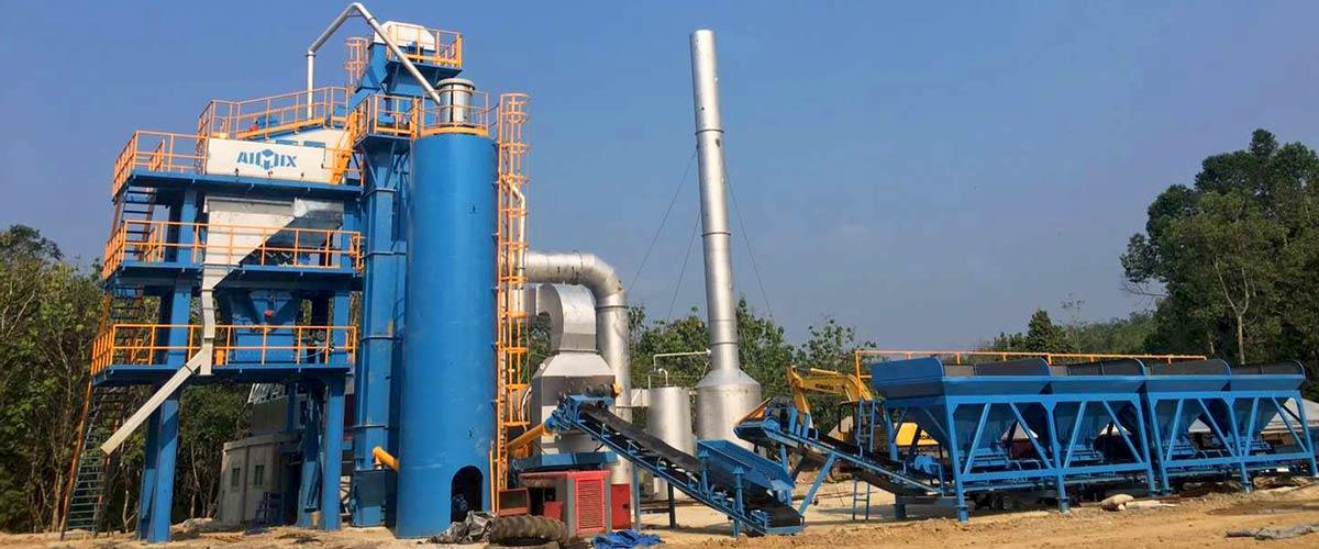 ALQ80 Stationary Asphalt Plant in Indonesia