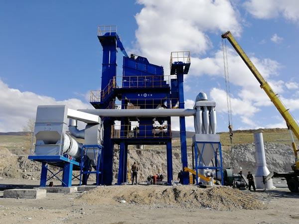 Installing Asphalt Plant in Kyrgyzstan