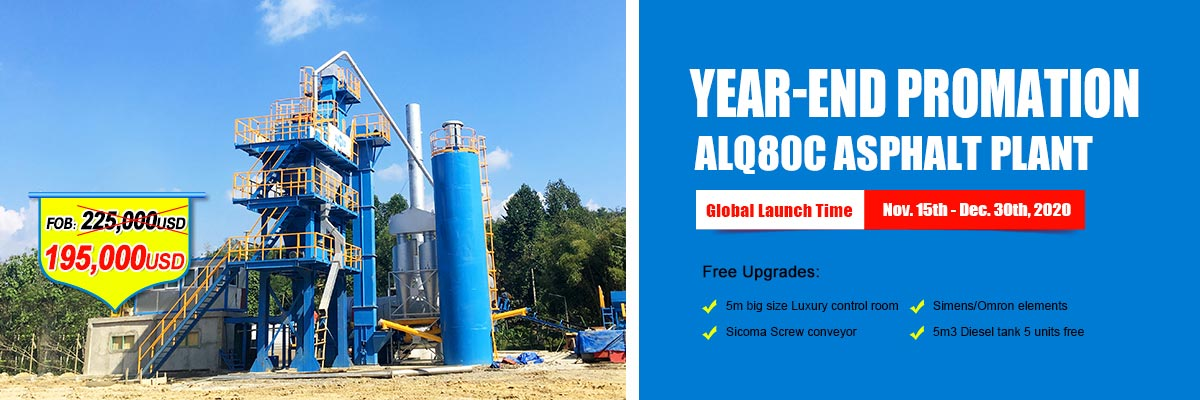 ALQ80 Small Portable Asphalt Mixing Plant for Sale with Discounts