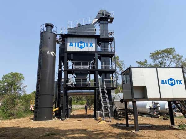 AIMIX ALQ100 Asphalt Plant Was Installed in Sri Lanka