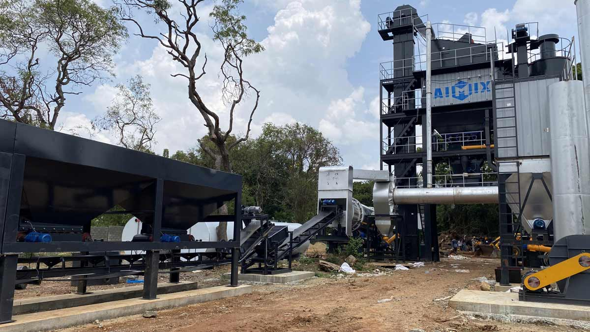ALQ100 Asphalt Plant in Sri Lanka